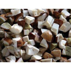 Гриб білий кубиками морожений фасований 1кг