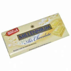 Шоколад `Millennium` пористий білий 85г