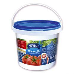 Томатна паста Чумак 25% з сіллю відро 1 кг