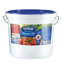 Томатна паста 25% з сіллю відро 5кг Чумак