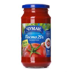 Томатна паста  350г скло Чумак