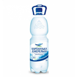Вода Карпатська Джерельна сильногазована 2 л