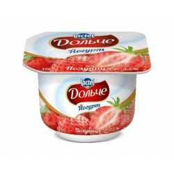 """Йогурт двохшаровий полуниця 3.2% 115г. """"Дольче"""""""
