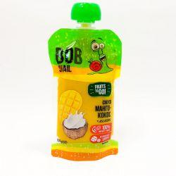 Пюре фруктове смузі Манго Кокос Лимон Bob Snail пастеризоване 120г